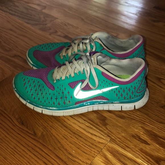 super popular 70d4f c786a Nike Free Run 4.0 teal and purple